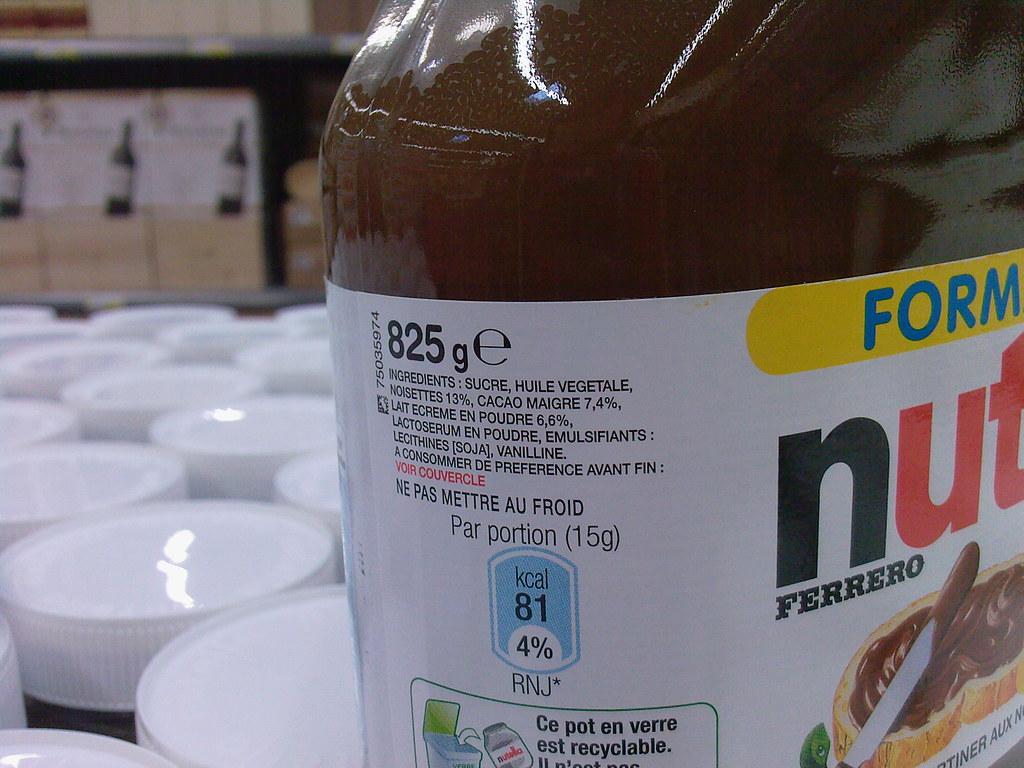Ingrédients du Nutella