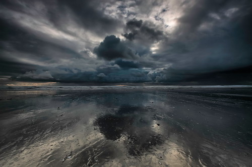 sunset storm beach water night clouds reflections cloudy davidjacobs jakeof