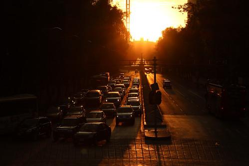 mexico mexicocity ciudaddemexico df distritofederal paseodelareforma atardecer sunset calle street