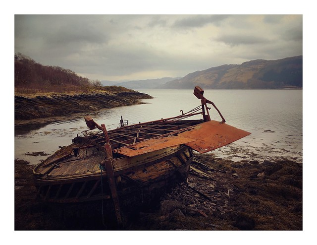 The Wreck of 'The Pride of Strome', Loch Carron, Wester Ross
