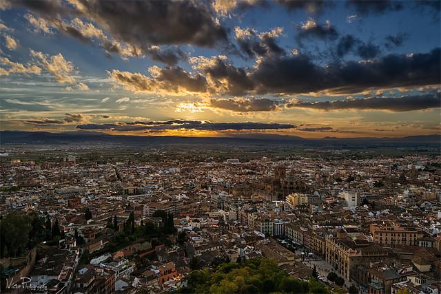 Sunset in Granada.