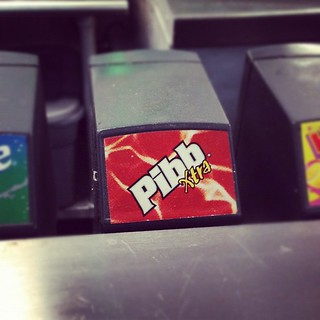 Not just Mr. Pibb, but Pibb Xtra! I assume this is roughly analogous to the Marlboro light:Marlboro red distinction. | by sbma44
