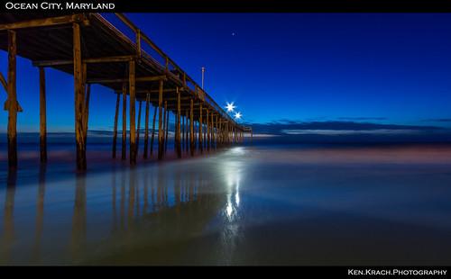 ocean beach sunrise pier maryland oceancity atlanticocean