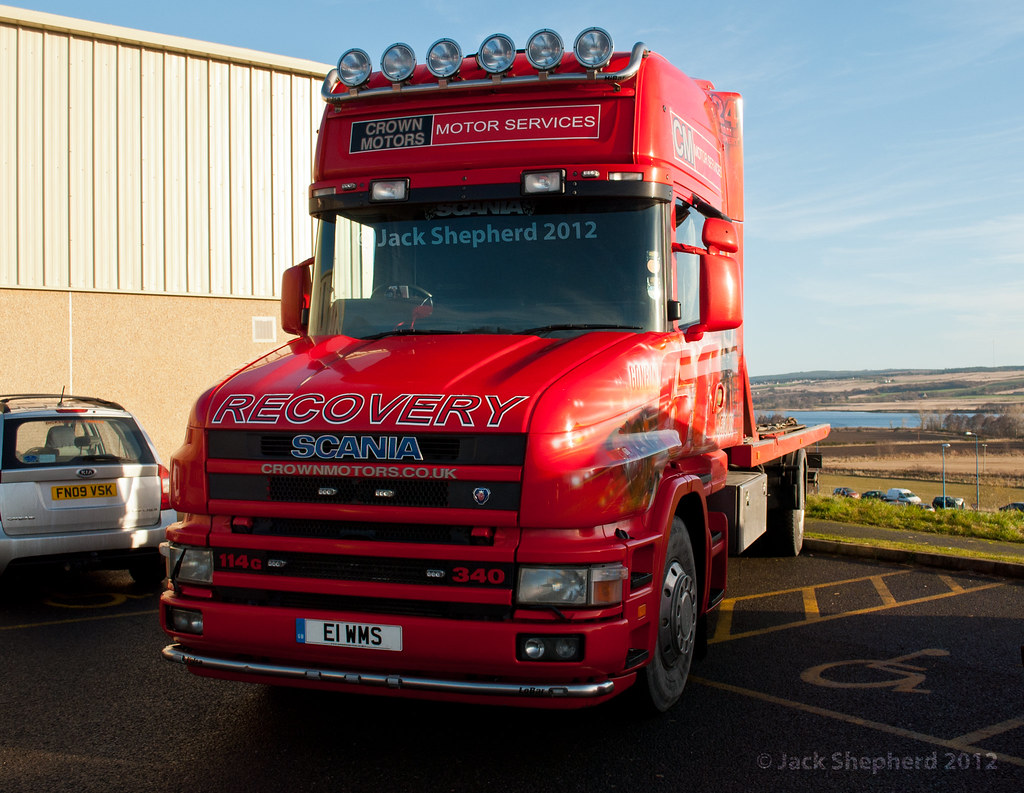 Crown Motors Scania 114G 340 T Cab Recovery Truck  | Flickr