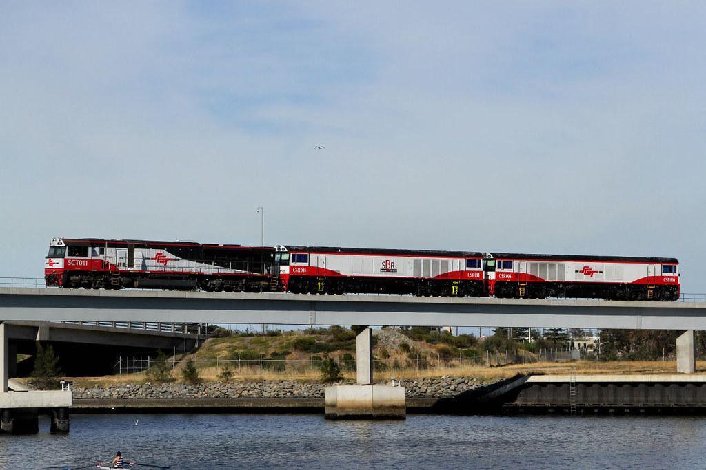 SCT011 CSR008 CSR006 D104s Port River Bridge Port Adelaide 25 11 2012 by Daven Walters