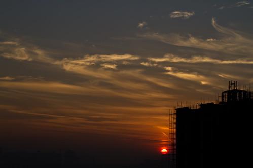 sunrise skies gurgaon goodmorning sunriseingurgaon