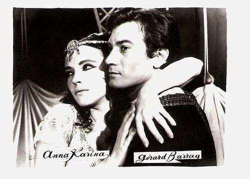 Anna Karina and Gérard Barray in Sheherazade (1963)