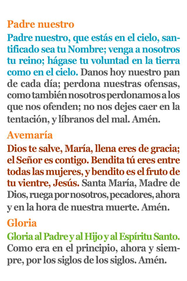 Padrenuestro Avemaria Gloria Oraciones Del Cristiano Pa Flickr