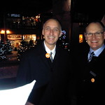 Merry Christmas canvassers--Peter Hansen and Jim Hanson