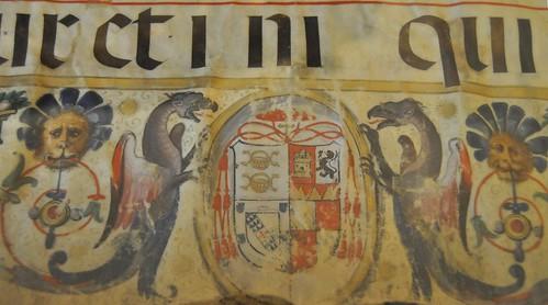 Baeza (Jaén). Museo de la catedral. Cantoral. Detalle