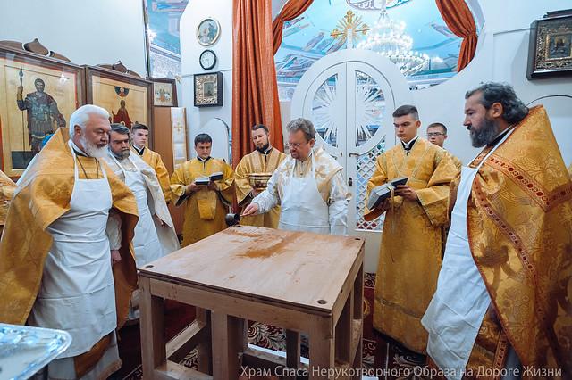29 августа 2016 года. Престольный праздник. Освящение храма и Престола.