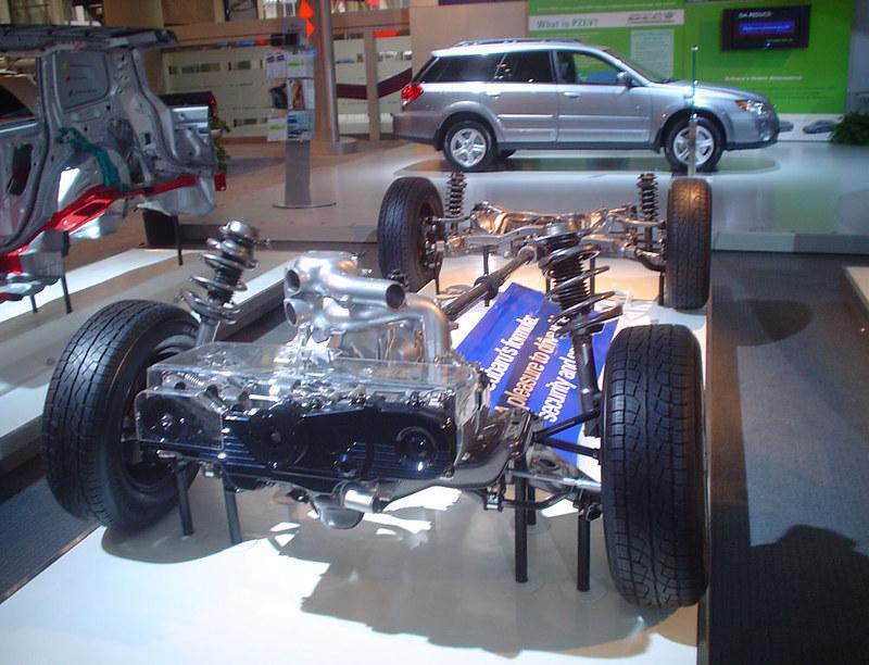 Subaru Chassis Display at 2009 Canadian International AutoShow