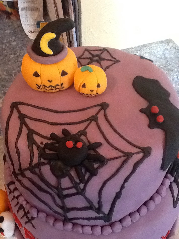 Incredible Halloween Themed Birthday Cake Kaitlin Dickson Flickr Funny Birthday Cards Online Fluifree Goldxyz