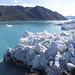 Masy ledu ledovce Qajuuttap Sermia se občas sesunou do vod fjordu, foto: Libor Hnyk