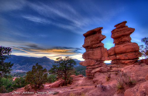 sunset rock garden twins colorado colorful siamese formation springs gods