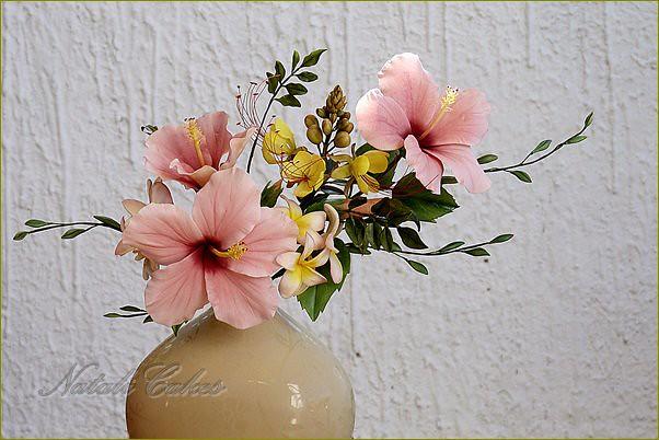 Hibiscus Flower Arrangement Caesalpinia Plumeria Gum Past Flickr