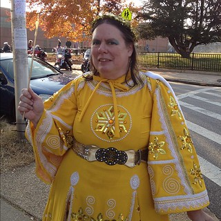 Suzanne Muldowney, Princess of the Golden Snow, Mayor's Christmas Parade, Hampden, Maryland. #baltimore