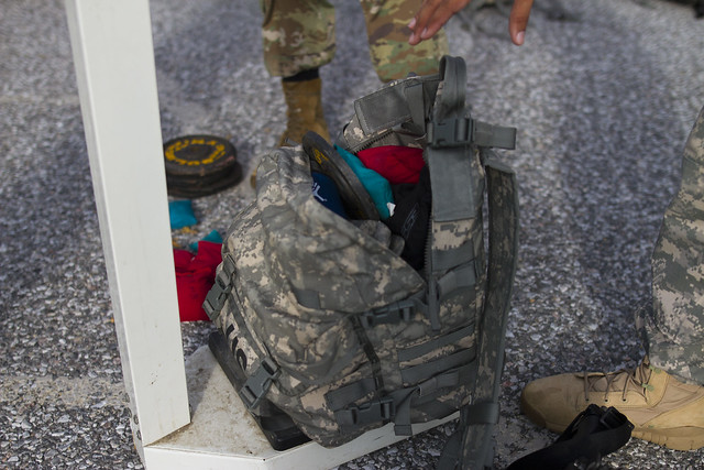 Soldiers ruck for remembrance