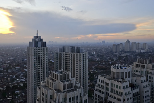 sunset 日落 indonesia 印尼 jakarta 雅加达 pakubuwono cloud apartment residence