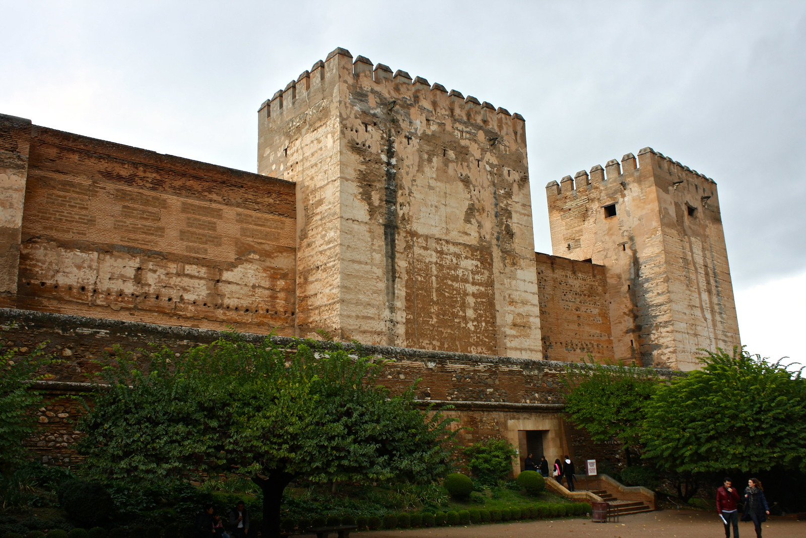 Alcazaba castle in the Alhambra, Granada, Spain