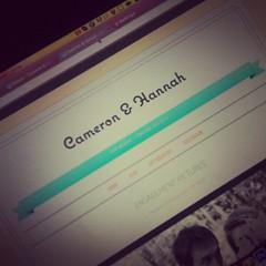Wedding website!