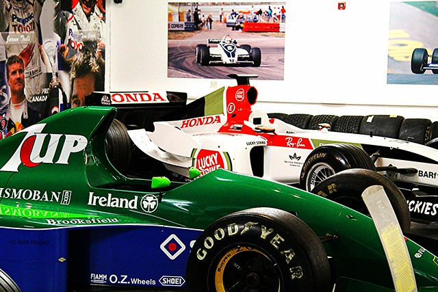 A 1991 Jordan Grand Prix car at The Donington Collection