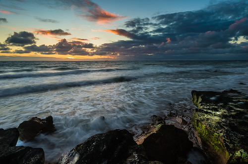 longexposure sky cloud water rock wave melbourne sunsunset nikond4