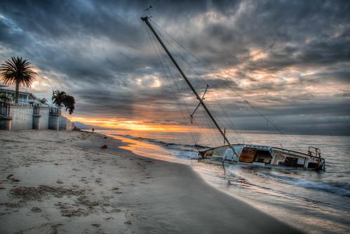 ocean abandoned beach water clouds sailboat lost coast sand pacific shipwreck sunrisesunset