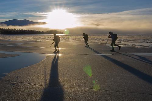 winter ice nature sweden skating skate sverige jämtland 2012 långfärdsskridsko ånn