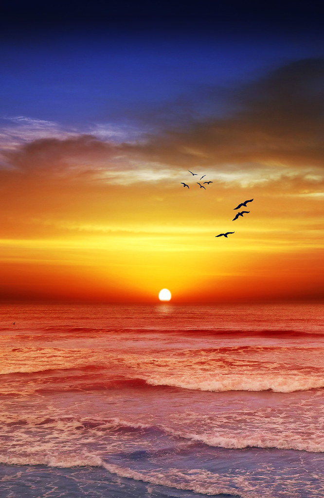 Sunset Beach Recropped | love this format for landscape ...