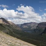 Rising Wolf Mountain and Two Medicine Lake from Bighorn Basin