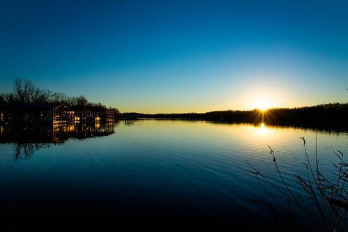 lake sunrise landscape day unitedstates clear arkansas fayetteville
