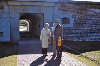 South Carolina   -   Fort Mounltrie   -  John, Jessica, Jeb & my mother   -   14 Novebmer 1977