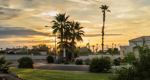 arizona sunrise churches panoramas palmtrees suncitywest d5100