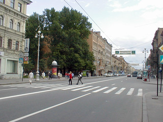 On Staro-Nevsky Prospekt looking towards the Lavra