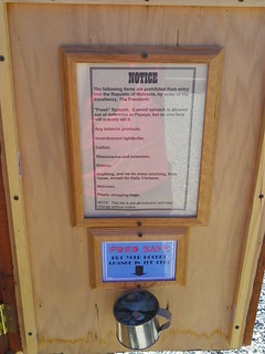 NOTICE - Prohibited from entry in the Republic of Molossia | by J. Stephen Conn