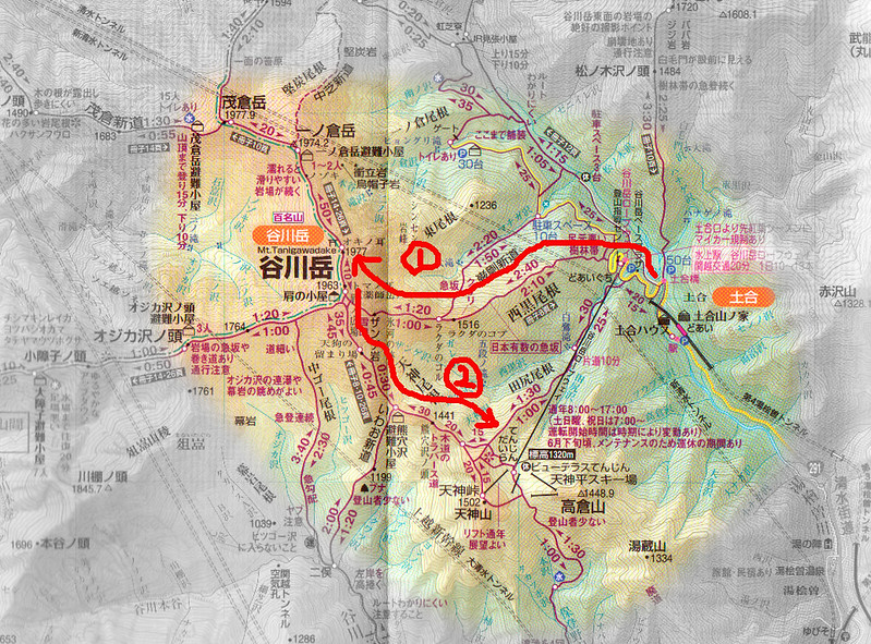 谷川岳登山ルート