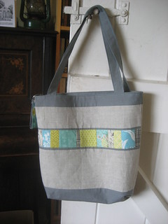 Mouthy stitches tote