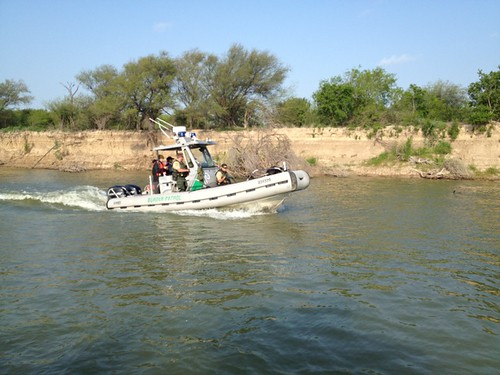"""<p>Border Patrol """"riverines"""" cruise one of the most active borders in the world - and one of the most dangerous rivers.</p>"""