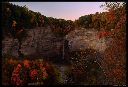 autumn ny newyork sunrise waterfall fallfoliage ithaca fingerlakes taughannockfalls justinsmith nikon1735mmf28 nikond800 justinsmithphotocom