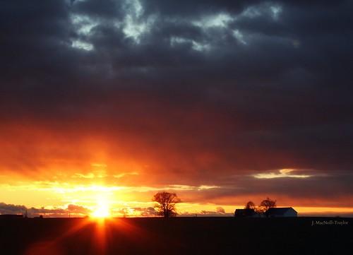 november autumn sunset sky sun silhouette clouds barn landscape evening sundown pennsylvania farm dramatic pa lancaster lancastercounty gypsymarestudios jennifermacneilltraylor jmacneilltraylor