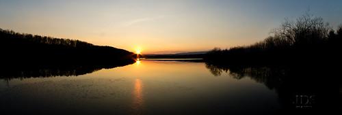 trees sunset sun lake ice water canon reflections westernpennsylvania shawneestatepark