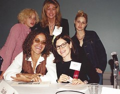 Actresses and Recording Artists Bijou Phillips, Billie Meyers, Lisa Loeb and Anna Waronker with Scottsdale Arizona woman entrepreneur-matchmaker Roseann Higgins at the California Governor's Conference for Women
