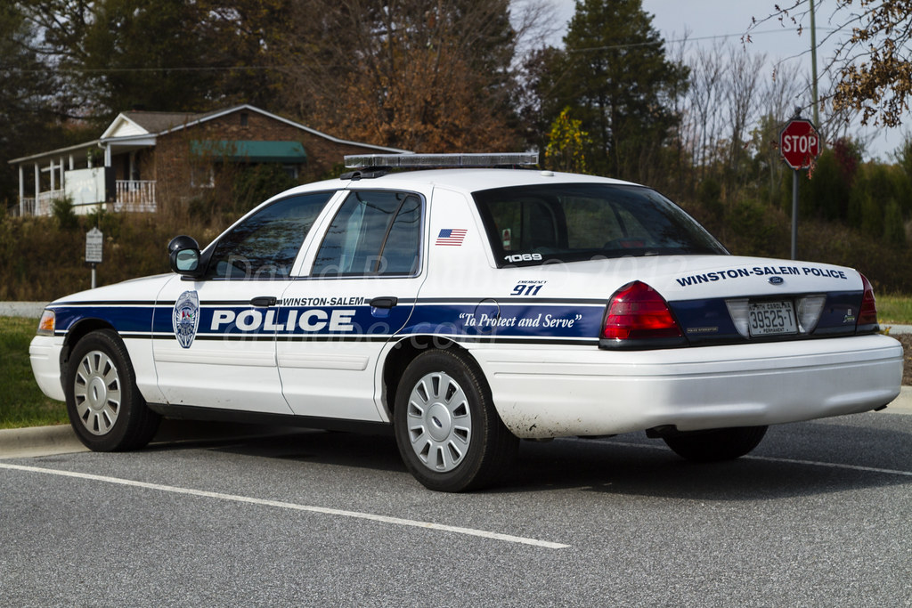 Winston-Salem NC Police Car, newer style markings and red