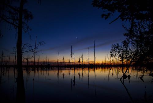 sunset moon canon reflections cloudy bayou madisonville ef24105mmf4lisusm 5dmarkii tyalexanderphotography gustisland