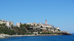Вид на Бастию с пляжа
