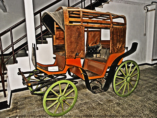 "Late 19th century coach in The Technical Museum ""Dimitrie Leonida"", Bucharest 