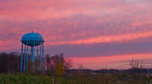 morning ohio sky sun nature sunrise geotagged dawn nikon raw nef watertower cs5 canalfultonohio d3s starkcountyohio nikongp1 nikkor24120f4vr
