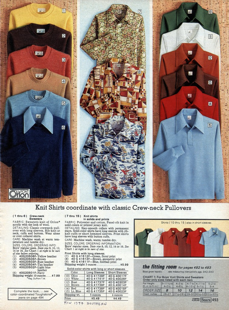 a19dbe9bf Sears 1977 fall/winter pg 493 | Vintage disco shirts. | Flickr