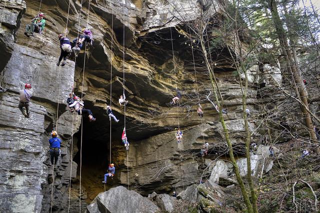 Natural Bridges Sink Cave entrance, Rope Day, Fall Creek Falls SP, Van Buren Co, TN
